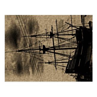 O vintage do navio de Mayflower tonificou o cartão
