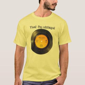 O vintage do registro de vinil edita o t-shirt da camiseta