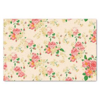 O vintage elegante floral aumentou papel de seda