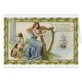 O vintage Erin vai cartão do dia de Bragh St
