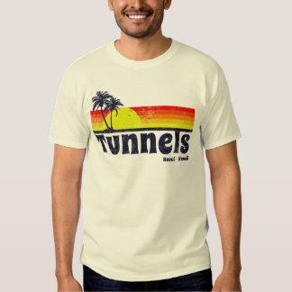 O vintage escava um túnel a praia Haena Kauai T-shirt