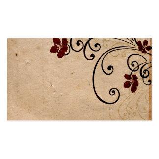 O vintage floresce o cartão de visita