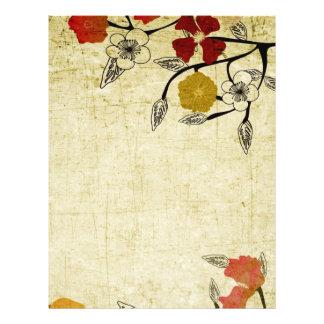 O vintage floresce o insecto flyer 21.59 x 27.94cm