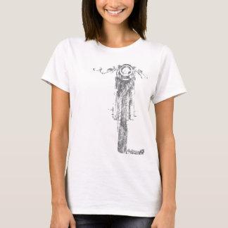 O vintage frontal do piloto do café denominou a camiseta