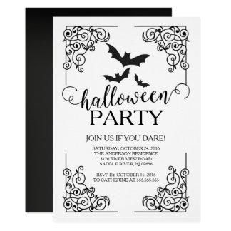 O vintage golpeia o convite de festas do Dia das