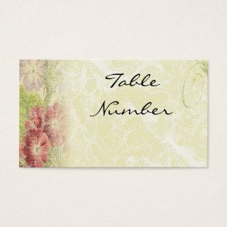 O vintage inspirou cartões florais do número da