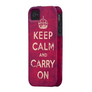 O vintage mantem a calma e continua capa para iPhone 4/4S