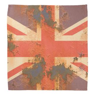 O vintage oxidou bandeira de Reino Unido Bandana
