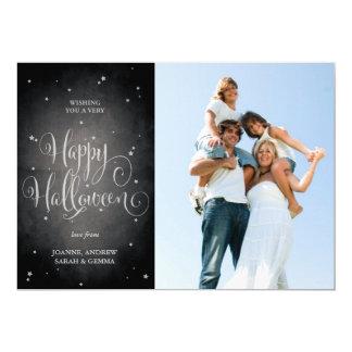O vintage preto bonito Stars o cartão com fotos do Convite 12.7 X 17.78cm