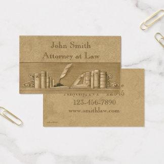 O vintage registra o cartão de visita