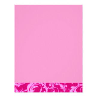 O vintage retro roda papel de carta cor-de-rosa do