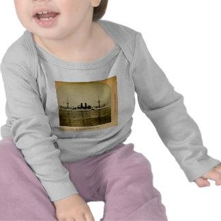 O vintage Stereoview de Maine da navio de guerra Camisetas
