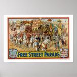O vintage vende o poster 1921 da parada do circo d