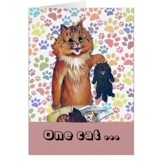 O vintage Wain um gato conduz a um outro cartão da