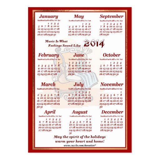 O violino 2014 do vintage deixou o calendário do a cartoes de visita