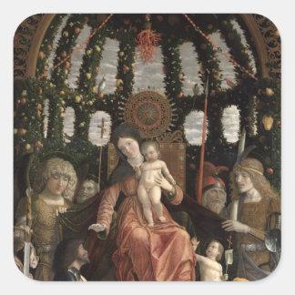 O Virgin da vitória ou Madonna e a criança Adesivo Quadrado