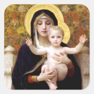 O Virgin dos lírios - etiqueta do Natal