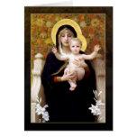 O Virgin dos lírios por William Bouguereau Cartão