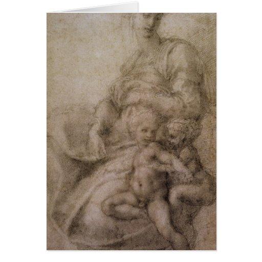 O Virgin e a criança com o baptista infantil Cartoes