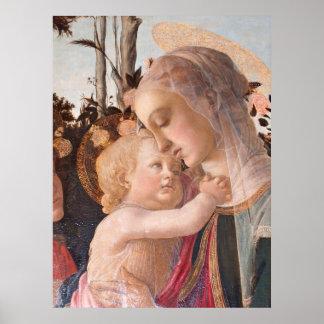 O Virgin e a criança de Alessandro Botticelli Pôster
