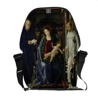 O Virgin e a criança (óleo) Bolsas Mensageiro