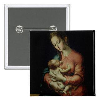 O Virgin e a criança (óleo no painel) Botons