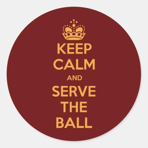 O voleibol mantem a calma e… adesivos redondos