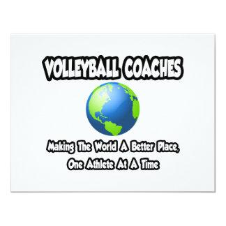 O voleibol treina… o mundo do fazer um lugar convite 10.79 x 13.97cm
