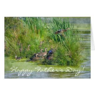 O vôo selvagem Ducks o cartão dos animais