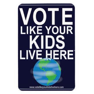 O voto do ímã do carro gosta de seus miúdos… foto com ímã retangular