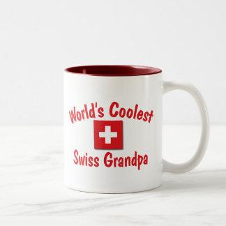 O vovô suíço o mais fresco do mundo caneca de café em dois tons