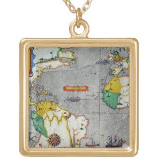 O voyadge indiano ocidental do famouse feito pelo  colar com pendente quadrado