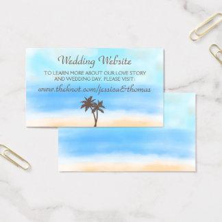 O Web site da coleção do casamento de praia da Cartão De Visitas