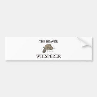 O Whisperer do castor Adesivo