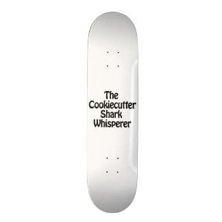 o whisperer do tubarão do cookiecutter shape de skate 18,1cm