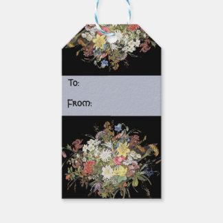 O Wildflower alpino floresce Tag do presente de Etiqueta Para Presente