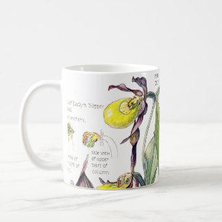 O Wildflower da orquídea de senhora deslizador do Caneca De Café