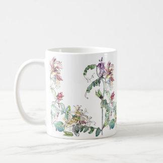 O Wildflower das ervilhas da madressilva do Caneca De Café