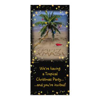 O X-mas tropical Party Convites Personalizado