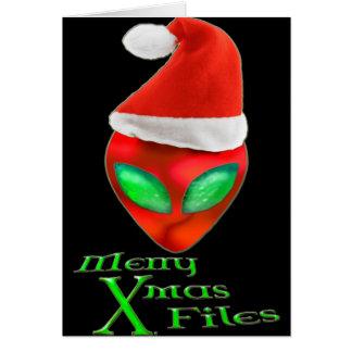O Xmas alegre da alienígena arquiva o cartão