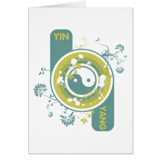 O Yin e o Yang Cartão Comemorativo