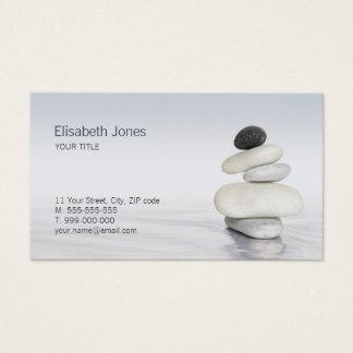O zen apedreja o cartão de visita do equilíbrio
