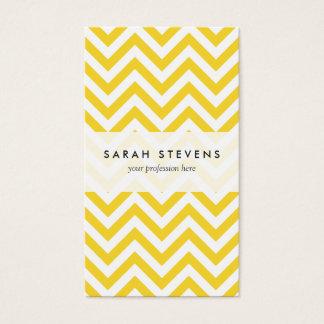 O ziguezague amarelo e branco listra o teste cartão de visitas