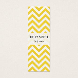 O ziguezague amarelo e branco listra o teste cartão de visitas mini