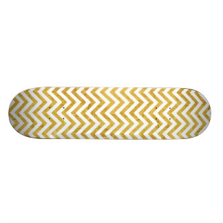 O ziguezague elegante da folha de ouro listra o shape de skate 20,6cm