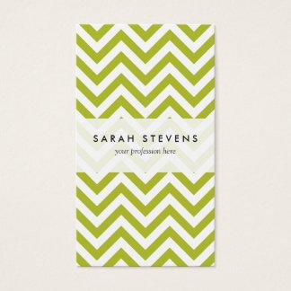 O ziguezague verde e branco listra o teste padrão cartão de visitas