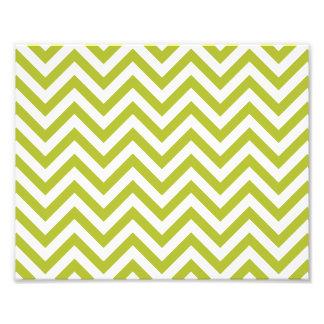 O ziguezague verde e branco listra o teste padrão impressão de foto