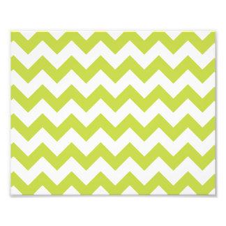 O ziguezague verde listra o teste padrão de impressão de foto
