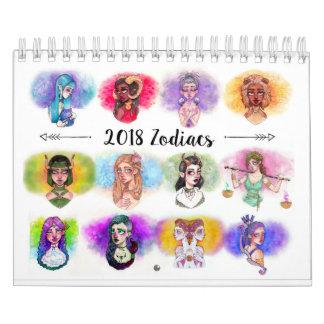 O zodíaco 2018 assina o calendário