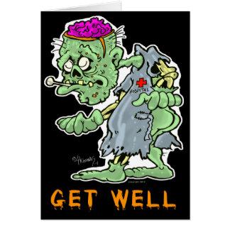 """O zombi obtem o cartão bom """"que sente podre? """""""